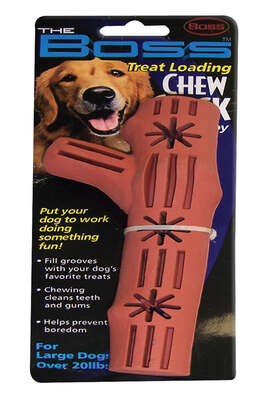Boss Pet  Brown  Rubber  Chew Stick Dog Toy  Large  1