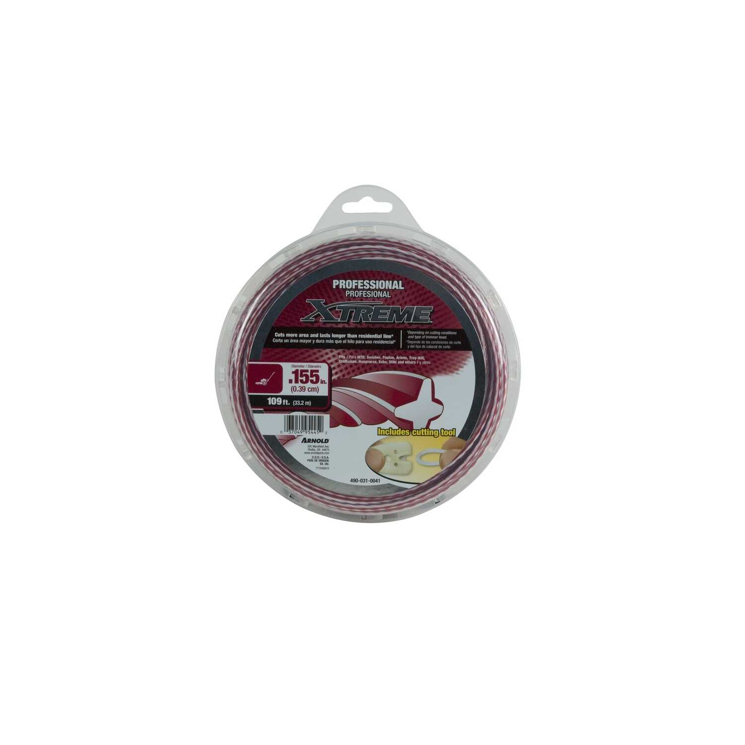 Arnold  Xtreme  Professional Grade  0.155 in. Dia. x 109 ft. L Trimmer Line