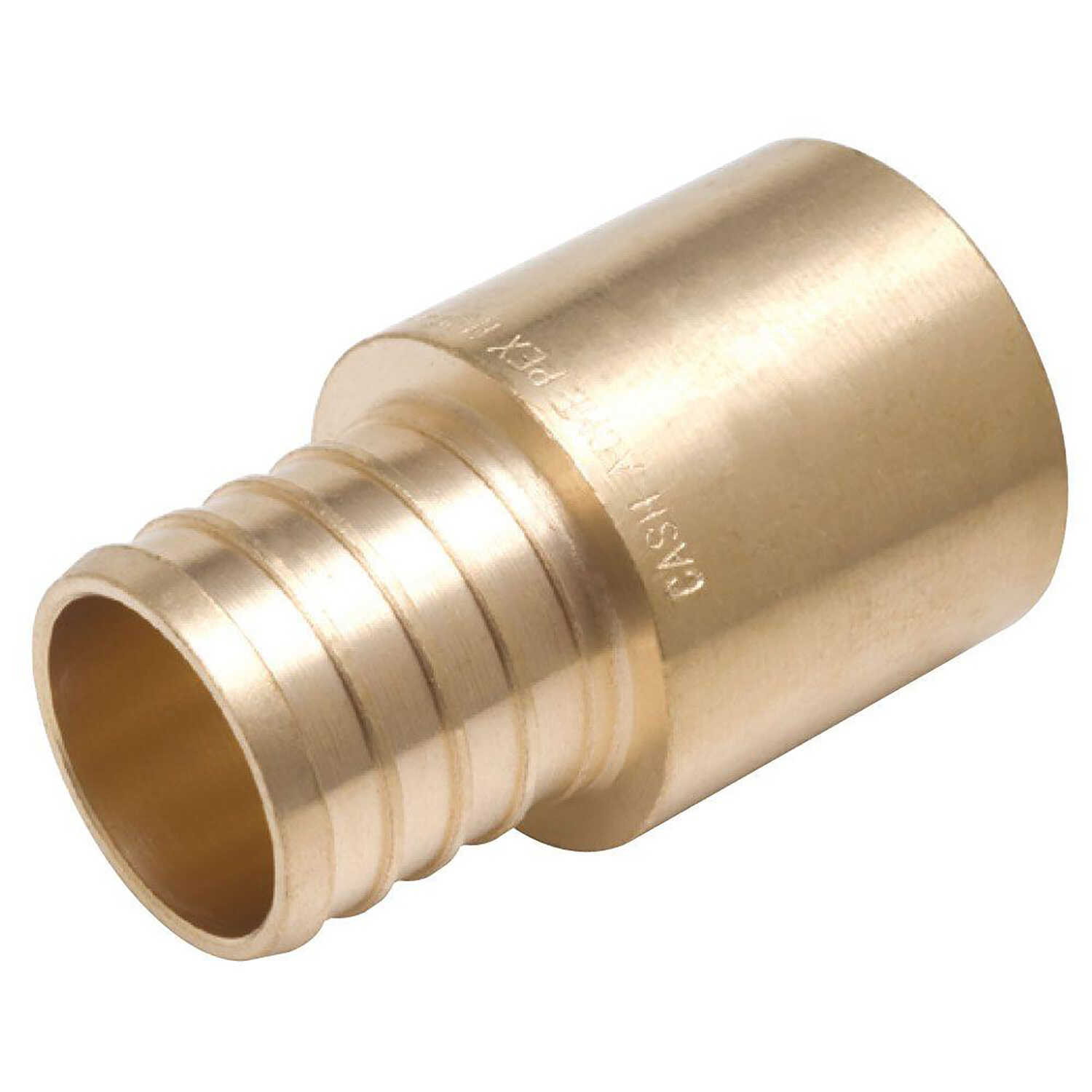 SharkBite  1 in. PEX   x 1 in. Dia. Barb  Brass  Male Adapter