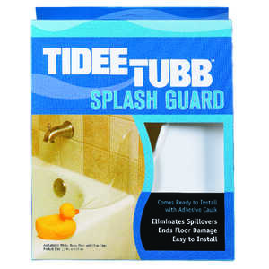 Tidee-Tubb  Splash Guard  11 in. H x 9.3 in. L White  Plastic