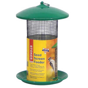 Stokes Select  Wild Bird  128 oz. Metal Screen  Tube  Bird Feeder  4 ports