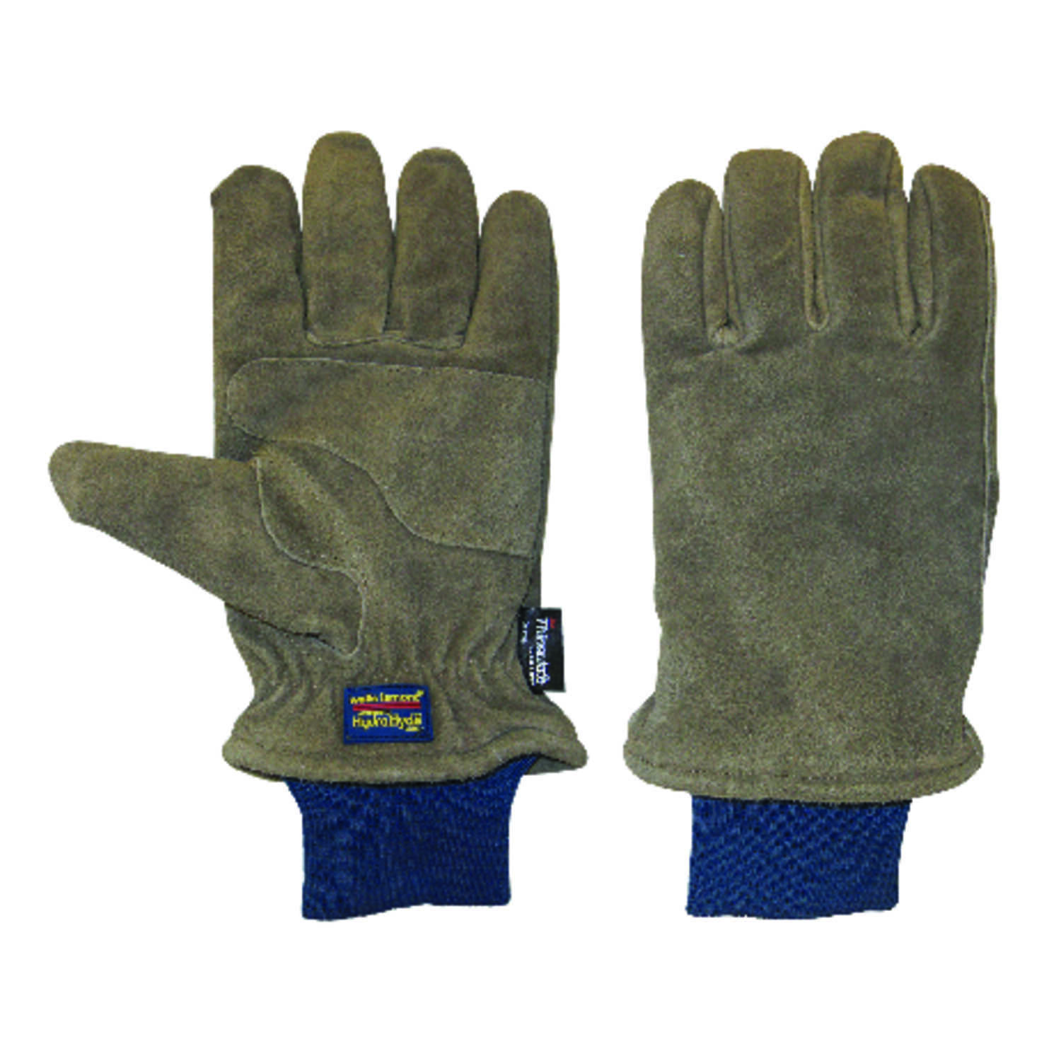 Wells Lamont  L  Suede Cow Leather  Winter  Brown  Gloves