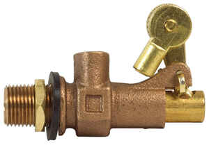B & K  1/2 in. Dia. x 1/2 in. Dia. Bronze  Float valve