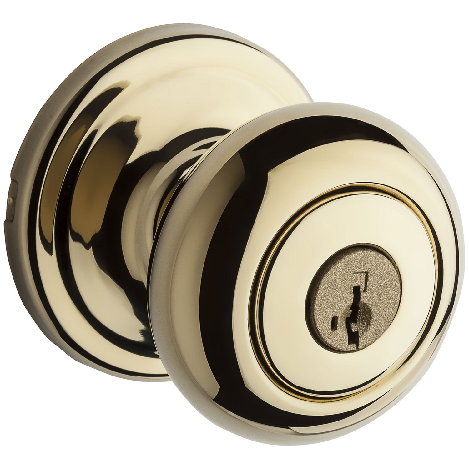 Kwikset  Juno  Polished Brass  Steel  Entry Lockset  1-3/4 in. ANSI/BHMA Grade 2