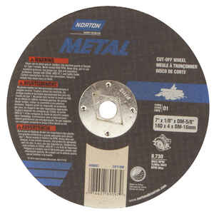 Norton  7 in. Dia. x 5/8 in.  Aluminum Oxide  Cut-Off Wheel  1 pc.