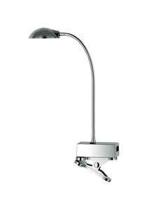 Tensor  14 in. Brushed  Gooseneck Clip-On Lamp  Metallic