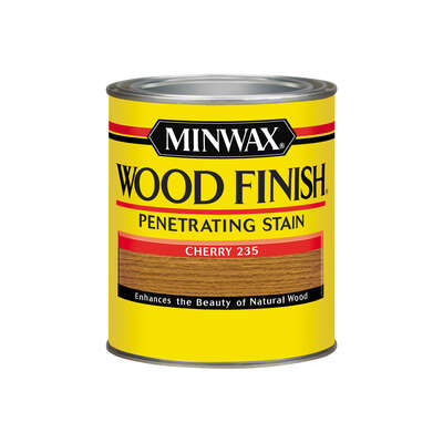 Minwax  Wood Finish  Semi-Transparent  Cherry  Oil-Based  Oil  Stain  1 qt.