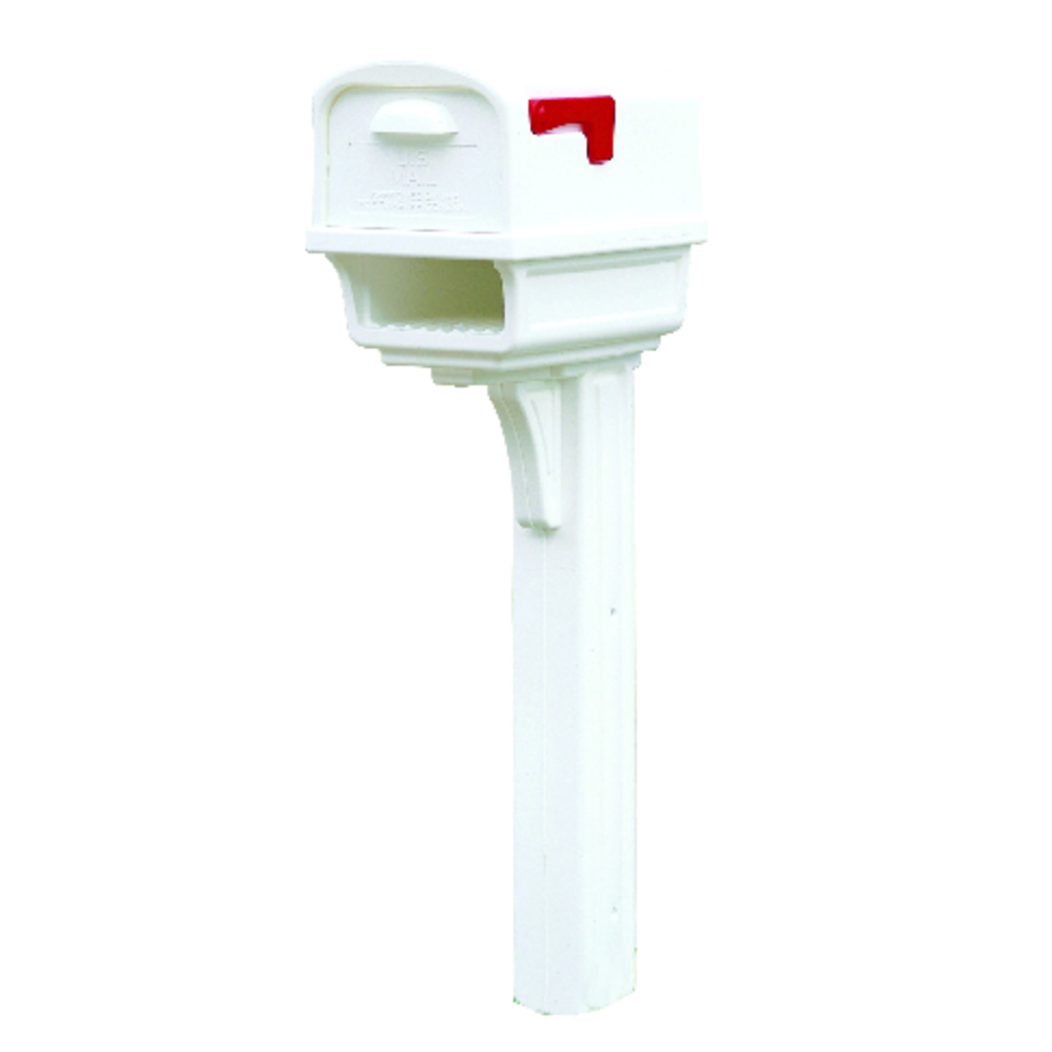 residential mailboxes side view. Gibraltar Mailboxes Gentry Plastic Post And Box Combo White 50 In. H X 11 Residential Side View