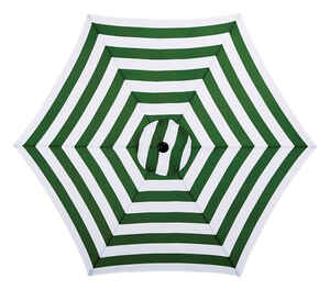 Living Accents  MARKET  9 ft. Tiltable Sage Stripe  Patio Umbrella