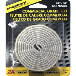 Shepherd  Brown  1/2 in. Adhesive  Felt  Commercial Grade Felt Pads  1 pk