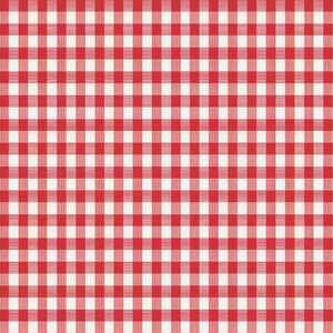 Magic Cover  Red/White  Checkered  Vinyl  Disposable Tablecloth  90 in. 52 in.
