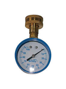 Brady  3/4 in. 0 psi 100 psi Pressure Gauge