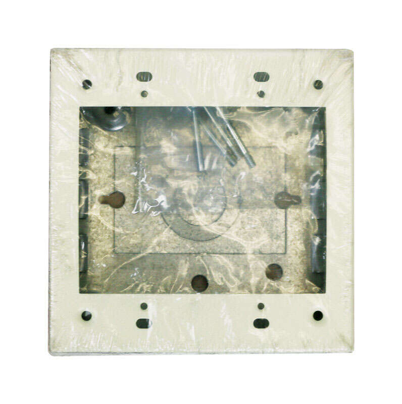 Wiremold  4-3/4 in. Square  Steel  2 gang Electrical Box  Ivory