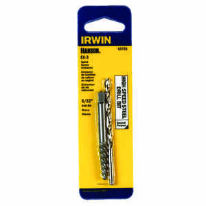 Irwin  Hanson  5/32 in.  x 5/32 in. Dia. High Speed Steel  Drill Bit Extractor Set  6 in. 1 pc.