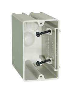 Allied Moulded  SliderBox  3-3/4 in. Square  Polyvinyl Chloride  1 gang Outlet Box  Beige/Tan