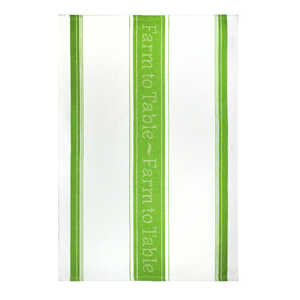 Mu Kitchen  Green/White  Cotton  Kitchen Towel  1 pk