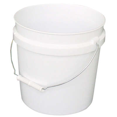 Leaktite  White  2 gal. Plastic  Bucket