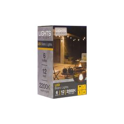 Lights By Night  LED  Bistro  String Lights  Warm White  12 ft. 6 lights
