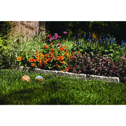 Suncast 10 ft. L x 5.75 in. H Resin Taupe Marble Lawn Edging