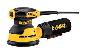 DeWalt  Corded  Random Orbit Sander  3 amps 12000 opm Yellow  5 in.