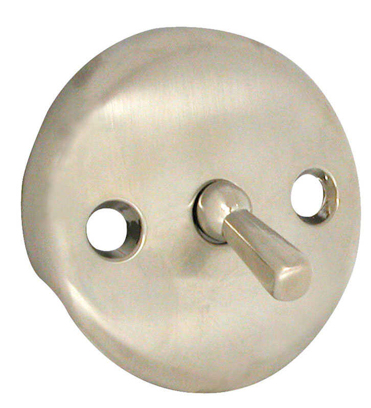 Danco  3-1/5 in. Metal  Round  Overflow Plate