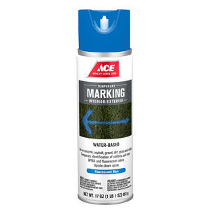 Ace  Water-Based  Handicap Blue  Field Marking Chalk  17 oz.