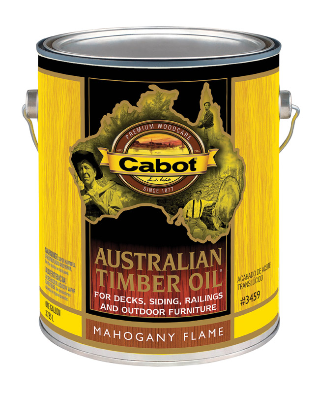 Cabot  Australian Timber Oil  Transparent  Mahogany Flame  Oil-Based  Natural Oil/Waterborne Hybrid