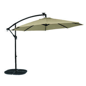 Living Accents  Offset  10 ft. Tiltable Tan  Patio Umbrella