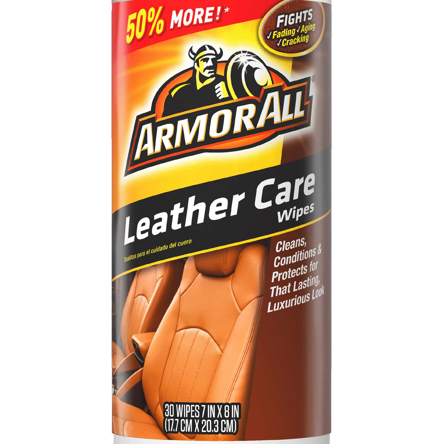 Armor All  Leather  Cleaner/Conditioner  20 wipes Canister