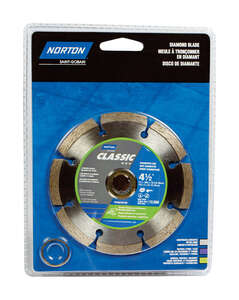 Norton  0.08 in.  Diamond  4-1/2  Segmented Rim Diamond Saw Blade  5/8 and 7/8  1 pc. Classic