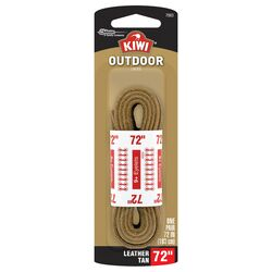 Kiwi  Outdoor  72 in. Leather Tan  Boot Laces