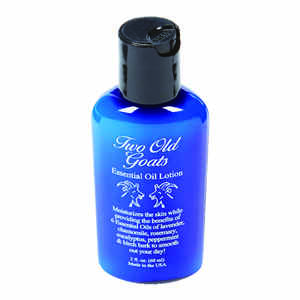 Two Old Goats  multiple essential oils Scent Essential Oil Lotion  2 oz.