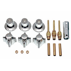 Danco  Central Brass  3-Handle  Chrome  Trim Kit