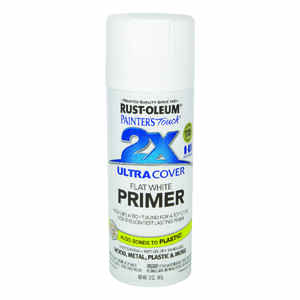 Rust-Oleum  Painters Touch Ultra Cover Primer  Flat  White  Spray Paint  12 oz.