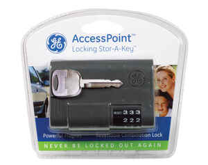 GE  Black  Plastic/Steel  Key Storage