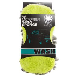 Zwipes Auto  Sponge  Knobby Sponge With Scrubber  21.5 in. L x 4.5 in. W 1 pk
