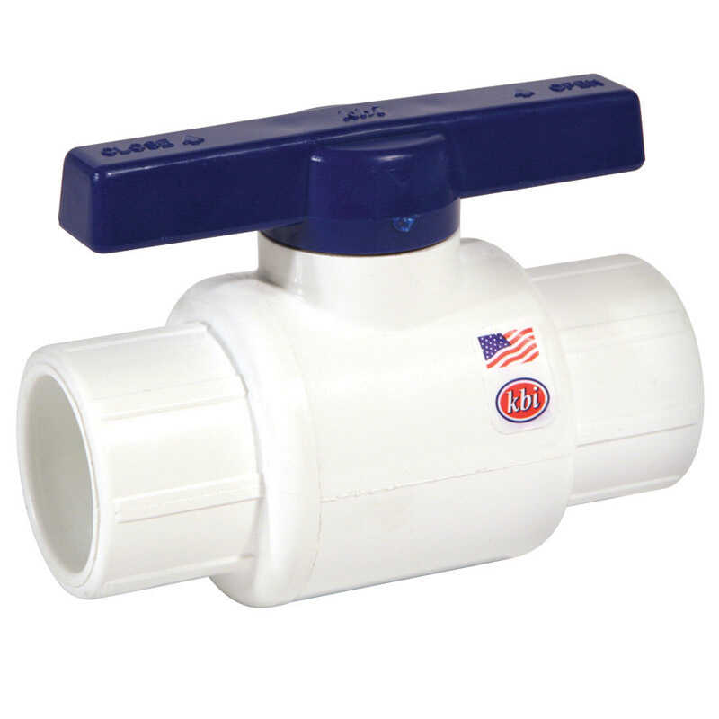 NDS  Ball Valve  1/2 in. Dia. x 1/2 in. Dia. PVC