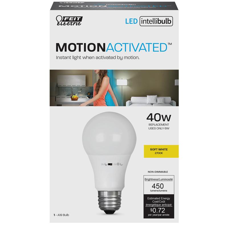feit electric intellibulb 6 watts a19 led bulb 450 lumens soft white