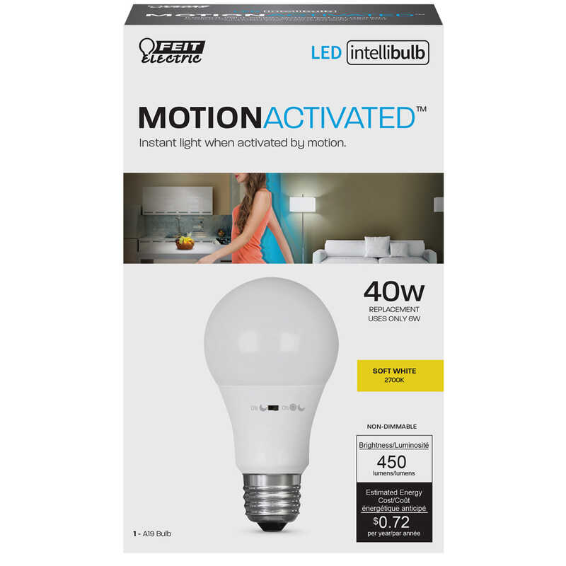 FEIT Electric Intellibulb 6 Watts A19 LED Bulb 450 Lumens