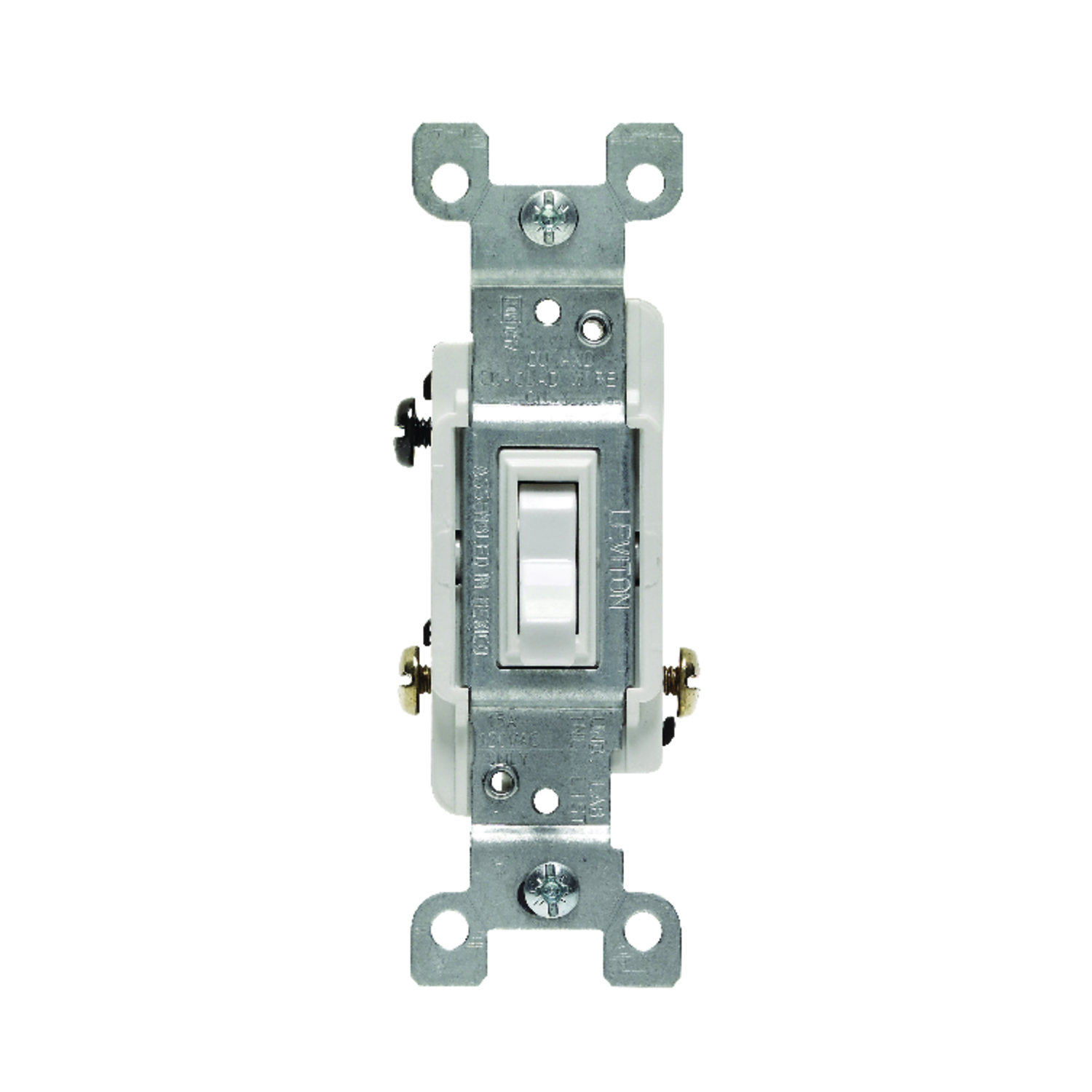 Leviton  15 amps Toggle  1 pk Switch  White