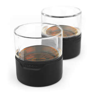 Metrokane  Rabbit  8 oz. Clear  Freezable Whiskey Glasses  Borosilicate Glass