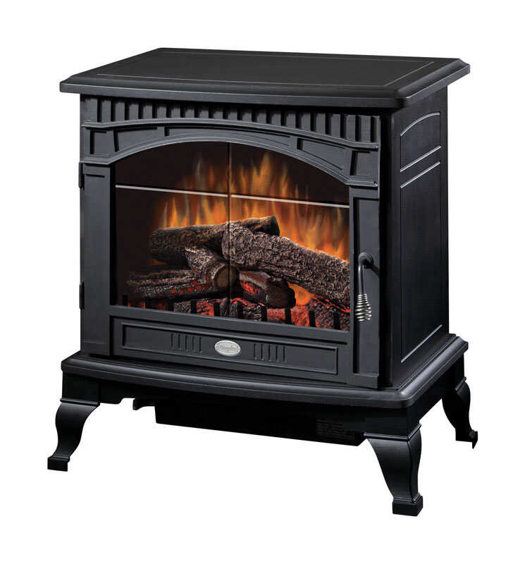 Dimplex  25 in. W 400 sq. ft. Traditional  Black  Electric Stove