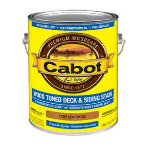 Cabot  Wood Toned Deck & Siding Stain  Transparent  Heartwood  Oil-Based  Deck and Siding Stain  1 g