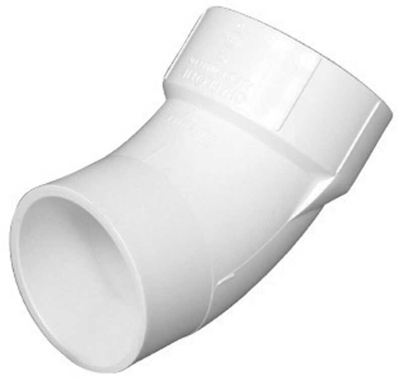 Charlotte Pipe  Schedule 40  3 in. Hub   x 3 in. Dia. Spigot  PVC  Street Elbow