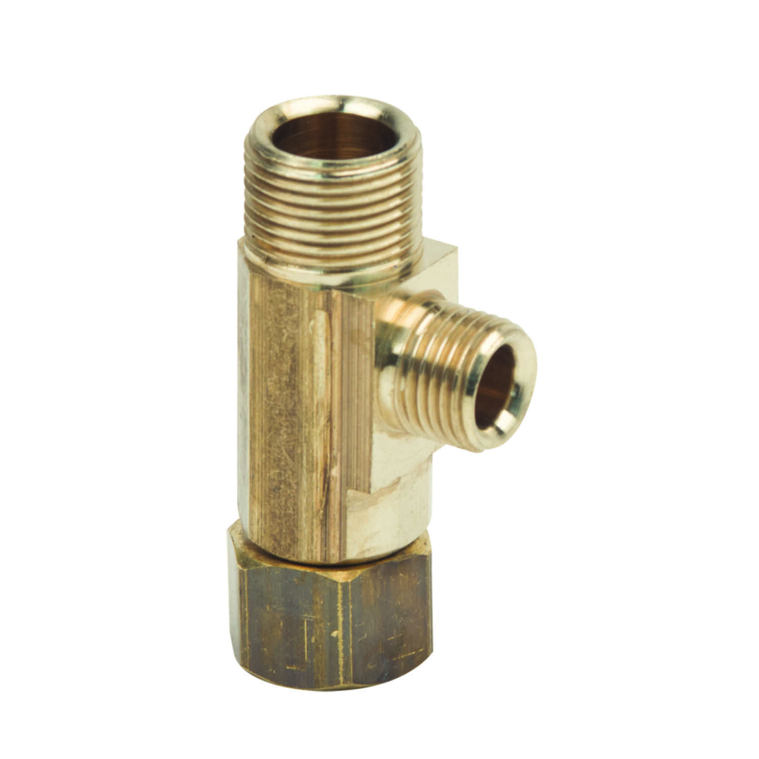 BrassCraft  3/8 in. Female   x 1/4 in. Dia. Female  Brass  For Potable Water Tee