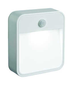 Mr. Beams  Battery Powered  Plastic  White  Motion-Sensing  Area Light
