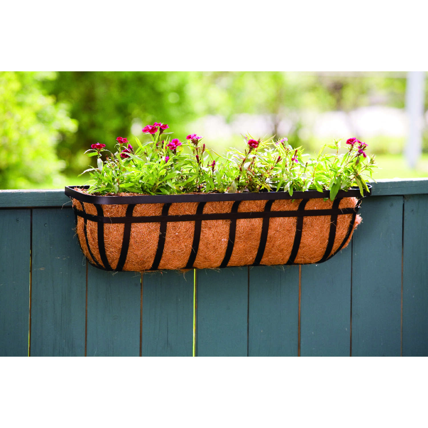 Living Accents Steel Deck Planter Black