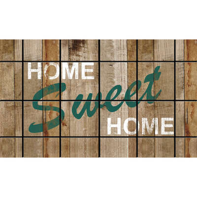 Sports Licensing Solutions  30 in. L x 18 in. W Multicolor  Nylon  Home Sweet Home  Nonslip Floor Ma