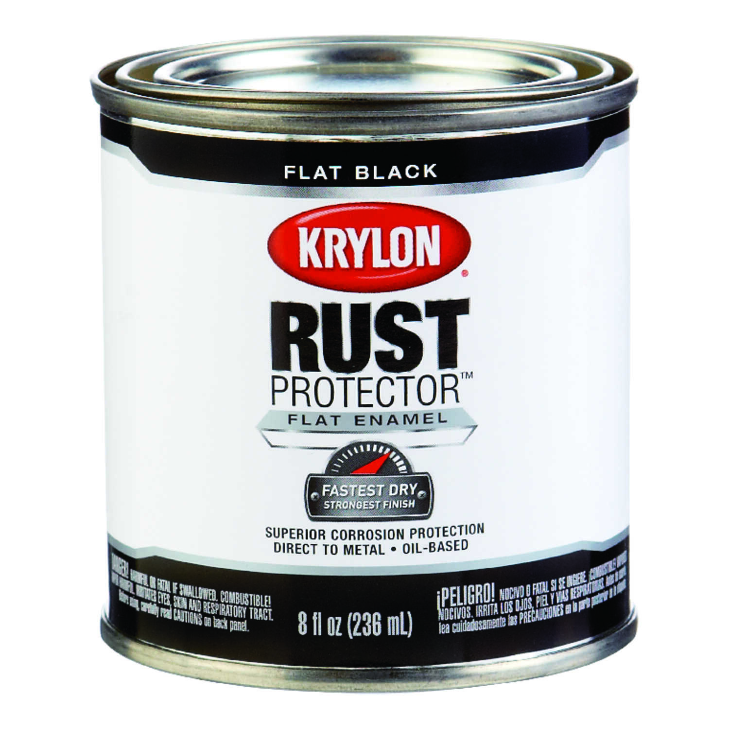 Krylon  Rust Protector  Indoor and Outdoor  Flat  Oil-Based  Enamel  Rust Protector Paint  8 oz. Bla