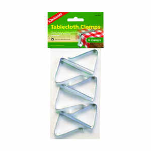 Coghlan's  Silver  Steel  Tablecloth Clamps  6 pk